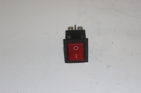 Переключатель кнопочный 230В, 10А, красная