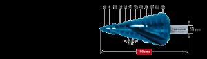 Ступенчатое сверло Karnasch, d=6-38