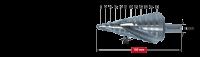 Ступенчатое сверло без покрытия Karnasch, d=6-38